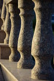 Part of granite banister Stock Image