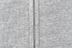 Part of gray clothes with zipper Royalty Free Stock Images