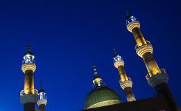 Part of the great bazaaa mosque in Xinjiang stock photo