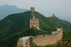 Part of Great Chinese wall Royalty Free Stock Images