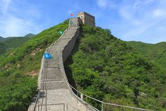 Part of the Great Wall, Second Scenic Spot, Badaling, China Stock Image