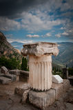 Part of Greek marble pillar Royalty Free Stock Photography