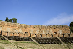 Part of Greek-Roman theatre in Taormina Royalty Free Stock Photo