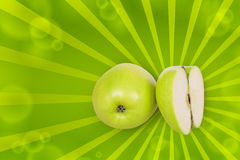 Part of green apple Royalty Free Stock Photo