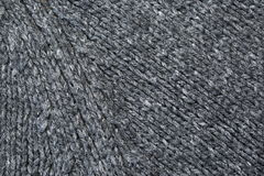 Part of Grey Knitted Sweater or Textile Piece Royalty Free Stock Photo