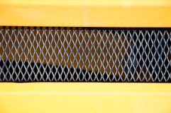 Part of the grille of the car stock photo