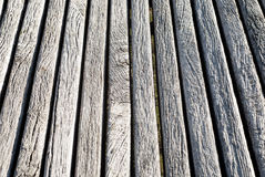 Part of grunge wooden bench Royalty Free Stock Photography