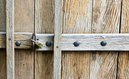 Part of grunge wooden door Royalty Free Stock Photography