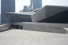 Part of Guangzhou Opera House Royalty Free Stock Photos