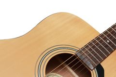 Part of guitar in white background Stock Images