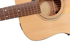 Part of guitar in white background Stock Image