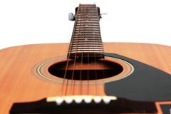 Part of guitar in white background Stock Photography