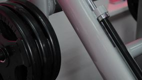 Part of the gym for the leg press in the gym. Part of the gym for the leg press in the gym stock video