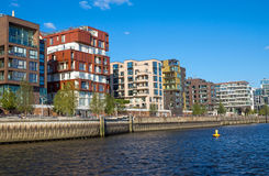 Part of the Hafencity in Hamburg Stock Photography