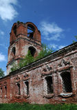 Part of Half-Ruined Medieval Orthodox Church Stock Photo