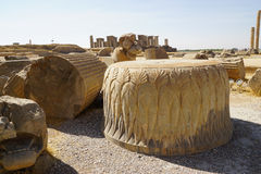 Part of the Hall of a Hundred Columns  at Persepolis in northeas Stock Photo
