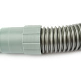 Part of Hand held small vacuum cleaner hose isolated over the white background Stock Photo