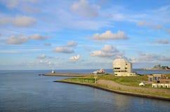 Part of harbor with ocean at Den Helder in the Netherlands