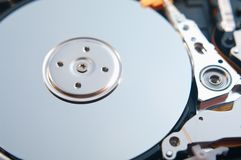 Part of hard disk Stock Image