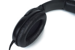 Part headphones close-up on white background. Stock Image