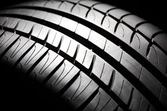 Part of high-performance summer tire. royalty free stock photos