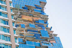 Part of high rise building under construction Stock Photo