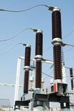 Part of high-voltage substation Stock Image