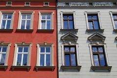 Part of a historic building on old city in Cracow Stock Photography