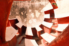Part of historical observatory at jantar mantar Royalty Free Stock Photo