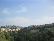 Part of the holy city of Safed royalty free stock photo