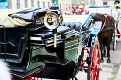 Part of a horse-drawn carriage. Vienna, Austria Royalty Free Stock Photography