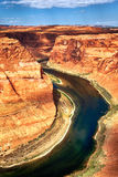 Part of Horse Shoe Bend. At Utah, USA Stock Photos