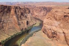 Part of Horseshoe Bend Royalty Free Stock Images