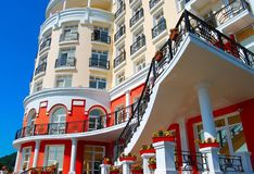 Part of the hotel Royalty Free Stock Photo