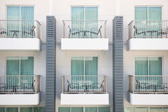 Part of the hotel building Royalty Free Stock Photography