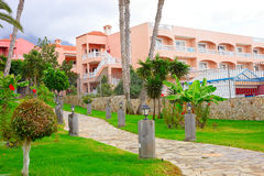 Part of the hotel in Tenerife. Stock Photos