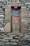 Stone   world  in west  china. Part  of   a  house  in Anshun,Guizhou,China Royalty Free Stock Photo