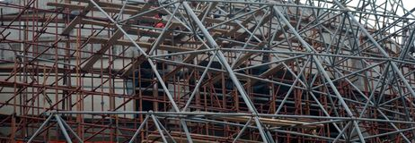 Part of house under construction. Close up Royalty Free Stock Image