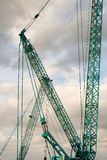 Part of a huge mobile crane Stock Image