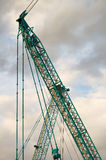 Part of a huge mobile crane Royalty Free Stock Photo
