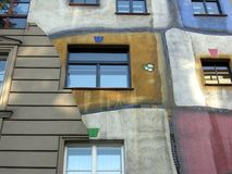 Part of Hundertwasser House Royalty Free Stock Photos