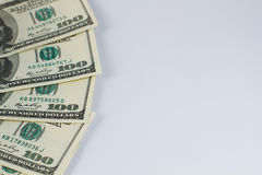 Part of hundred dollar bills Stock Photo