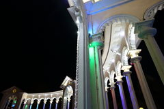 Part of the Illuminated colonnade Stock Image