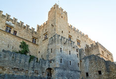Part of the impressive medieval castle in Rhodes, Greece. Part of the impressive medieval castle in Rhodes stock photo
