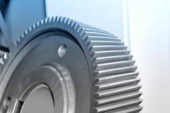 Part of an industrial cogwheel, gear. Royalty Free Stock Photos