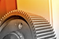 Part of an industrial cogwheel, gear. Royalty Free Stock Image