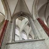 Part of interior in breda cathedral in the netherlands Stock Image