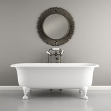 Part of Interior classic bathroom with stylish bath 3D rendering Stock Image