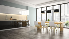 Part of interior dining room Royalty Free Stock Image