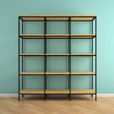 Part of interior with empty  shelves 3D rendering Royalty Free Stock Photos